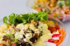 Insalata di verdure organica Fotografie Stock