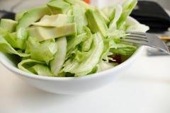 Insalata di verdure sana fresca in ciotola Fotografia Stock Libera da Diritti