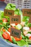 Insalata di verdure senza i preservativi Fotografia Stock