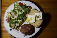 insalata e feta del beaf fotografie stock