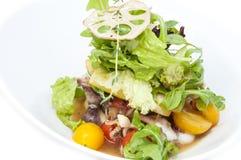Insalata e frutti di mare di verdure Immagine Stock