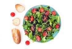 Insalata e pane di verdure Immagini Stock Libere da Diritti