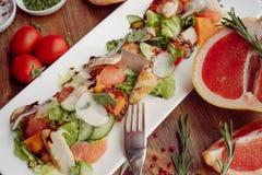 Insalata e pompelmo della Turchia Fotografia Stock