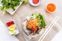 Insalata fredda vietnamita delle tagliatelle fotografia stock