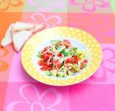 Insalata fresca con formaggio Fotografia Stock
