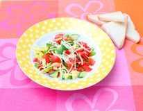 Insalata fresca con formaggio Immagini Stock
