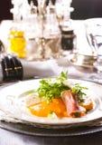 Insalata fresca con la mozzarella ed il mandarino Fotografie Stock