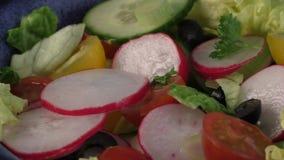 Insalata fresca con le verdure archivi video