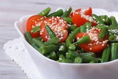 Insalata fresca dei fagiolini con sesamo Immagini Stock Libere da Diritti