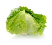 Insalata fresca della lattuga di iceberg fotografie stock