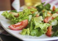 Insalata fresca Pomodori e lattuga, healhty Fotografia Stock