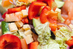 Insalata, fresco, sana, alimento, dieta, aperitivo, pasto, primo piano, verdura Fotografia Stock