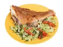 Insalata fritta della verdura e dei pesci Immagine Stock Libera da Diritti