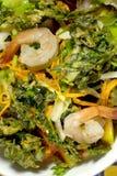 Insalata fritta nel grasso bollente del gamberetto dei abicans di Sauropus Fotografie Stock