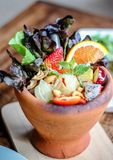 Insalata Friut della papaia Fotografia Stock