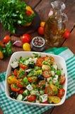 Insalata greca con la verdura fresca Fotografia Stock