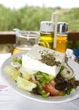 Insalata greca nelle isole greche immagine stock