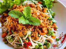 Insalata piccante dei vermicelli del riso Immagine Stock