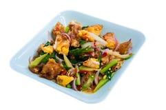 Insalata piccante dell'uovo fritto dell'alimento tailandese Immagini Stock