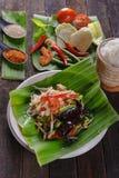 Insalata piccante della papaia con il granchio salato, Somtam Fotografie Stock Libere da Diritti
