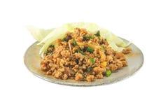 Insalata piccante tailandese della carne tritata isolata Fotografia Stock Libera da Diritti