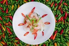 Insalata piccante tailandese Yum Woon Sen Fotografie Stock