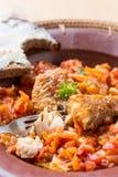 Insalata pronta della verdura e del pesce Fotografia Stock