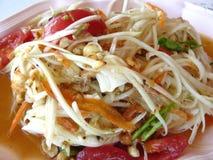 Insalata salata papaia dell'uovo Fotografie Stock