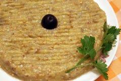 Insalata sana della melanzana per i vegetariani Immagine Stock Libera da Diritti