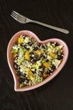 Insalata sana della quinoa del cuore Immagine Stock