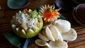 Insalata tailandese del pomelo Immagini Stock