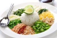 Insalata tailandese del riso Fotografia Stock Libera da Diritti