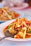 Insalata tailandese della papaia Fotografia Stock