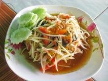 Insalata tailandese della papaia Fotografia Stock Libera da Diritti