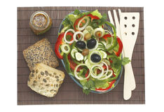 Insalata vegetariana Fotografia Stock