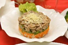 Insalata vegetariana del fungo Immagine Stock