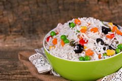 Insalata vegetariana del riso Fotografia Stock