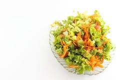 Insalata verde con la carota Fotografia Stock