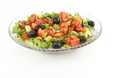 Insalata verde con le olive Immagine Stock Libera da Diritti