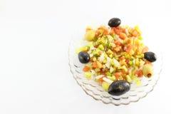 Insalata verde con le olive Fotografia Stock