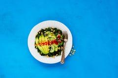 Insalata verde del vegano fotografia stock libera da diritti