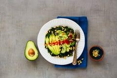 Insalata verde del vegano fotografia stock