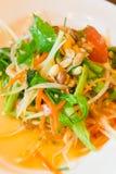 Insalata verde della papaia Fotografia Stock