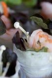 Insalata verde di crêpe di Shirmp Fotografia Stock
