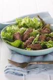 Insalata verde e raccordo cotto di beef-3.JPG Immagine Stock Libera da Diritti