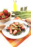 Insalata verde e rossa dell'asparago Fotografia Stock Libera da Diritti