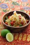 Insalata verde tailandese della papaia Fotografie Stock Libere da Diritti