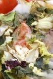 insalubre vegetal orgânico mouldy a comer foto de stock