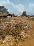 Insalubrity in der Gemeinde von MBatto lizenzfreies stockfoto