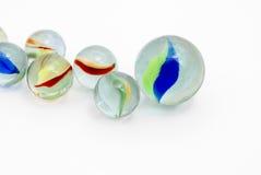 insamling av marmorar Arkivfoton